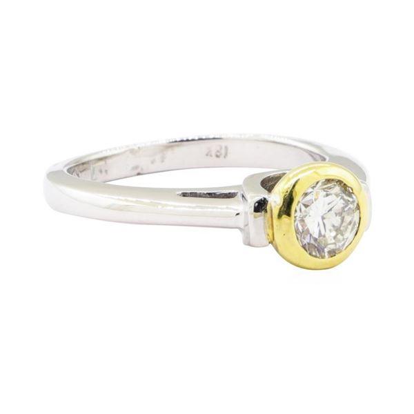 0.50 ctw Diamond Ring - Platinum and 18KT Yellow Gold
