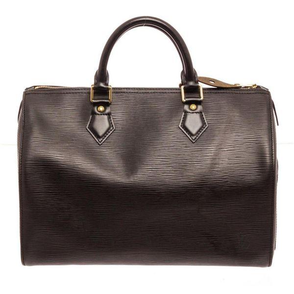Louis Vuitton Black Epi Leather Speedy 30cm Satchel Bag