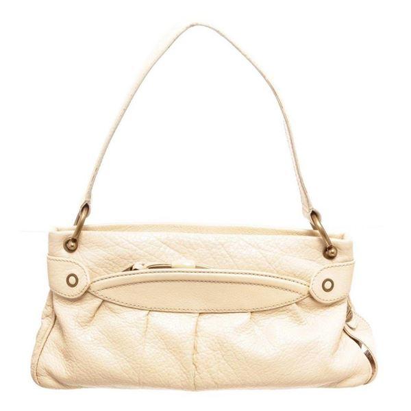 Marc Jacobs Cream Leather Shoulder Bag