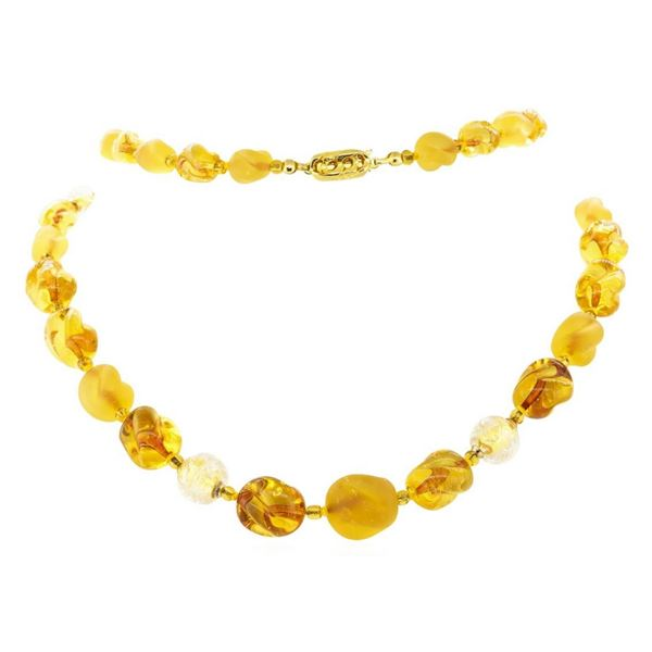 Thirty Inch Multi-Colored Glass Bead Necklace
