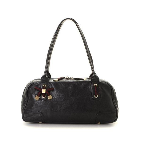 Gucci Black Leather Princy Shoulder Bag