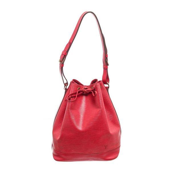 Louis Vuitton Red Epi Leather Noe PM Shoulder Bag