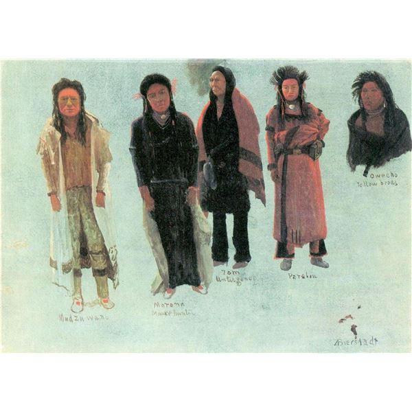 Five Indians by Albert Bierstadt
