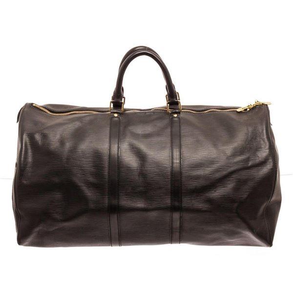 Louis Vuitton Black Keepall 55cm Travel Bag