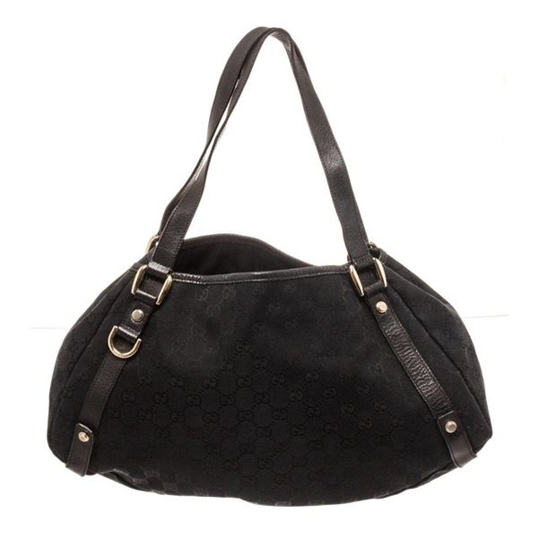 Gucci Black Leather Abbey Tote Bag