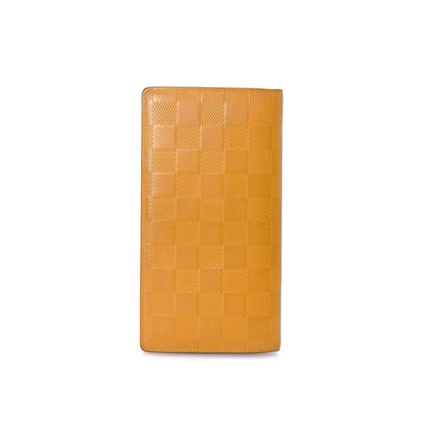 Louis Vuitton Yellow Leather Brazza Wallet