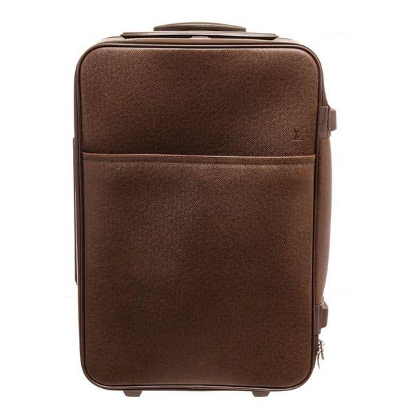 Louis Vuitton Brown Leather Pegase 55 Travel Bag
