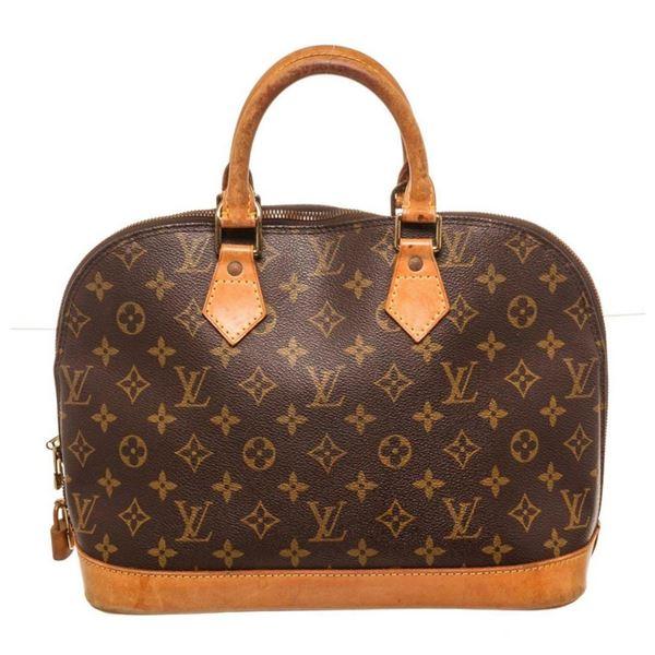 Louis Vuitton Brown Alma MM Satchel Bag