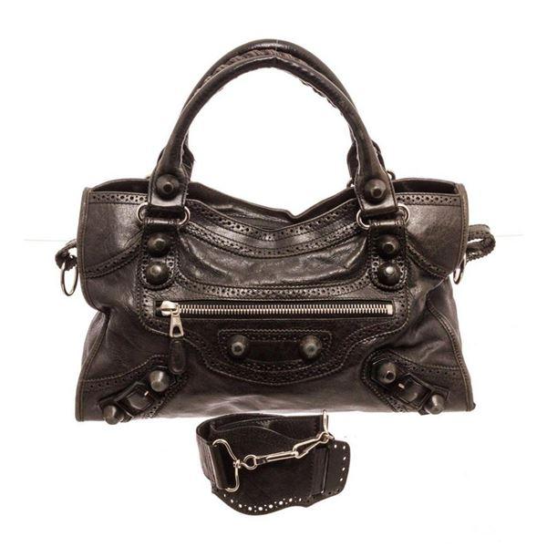 Balenciaga Black City Shoulder Bag