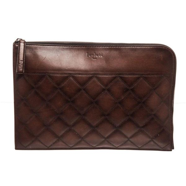 Berluti Brown Leather Off The Road Wallet