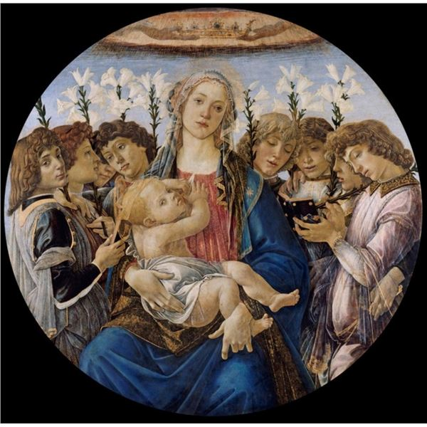 Sandro Botticelli  - Mary with Child and Singing Angels
