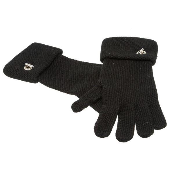 Hermes Black Cashmere Knit Gloves