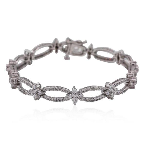 14KT White Gold 3.09 ctw Diamond Bracelet