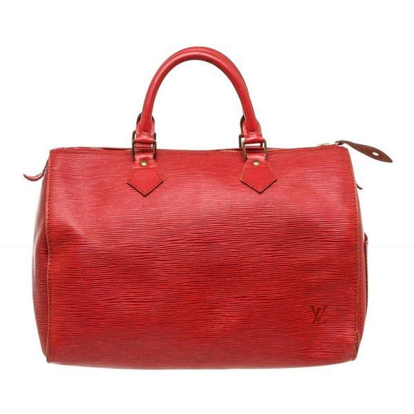 Louis Vuitton Red Epi Leather Speedy 30 cm Bag