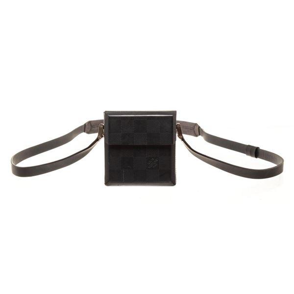 Louis Vuitton Black Damier Glace Marty Shoulder Bag