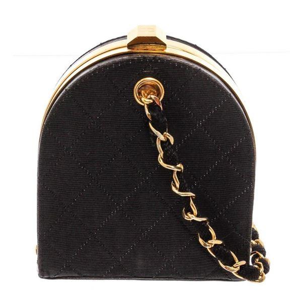 Chanel Vintage Quilted Canvas Mini Frame Bag