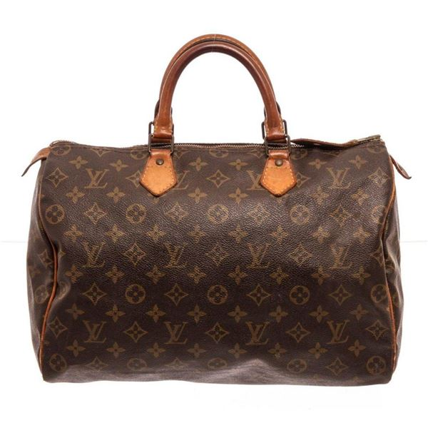 Louis Vuitton Brown Speedy 35cm Satchel Bag