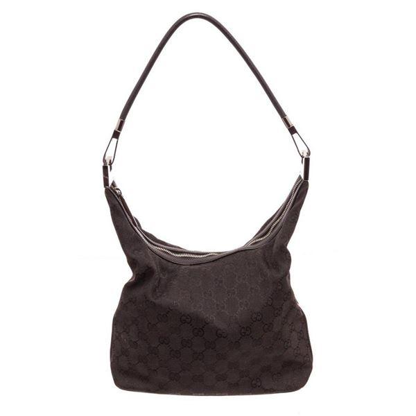 Gucci Dark Brown Canvas Pelham Shoulder Bag