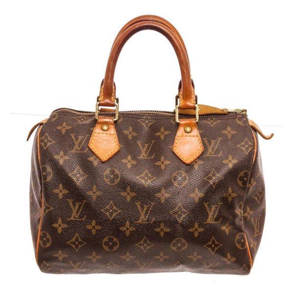 Louis Vuitton Brown Monogram Speedy 35cm Satchel Bag