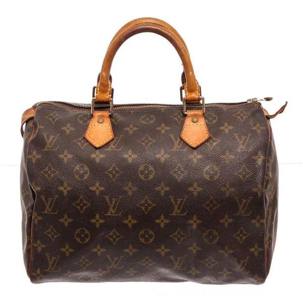 Louis Vuitton Brown Monogram Canvas Speedy 30cm Satchel Bag