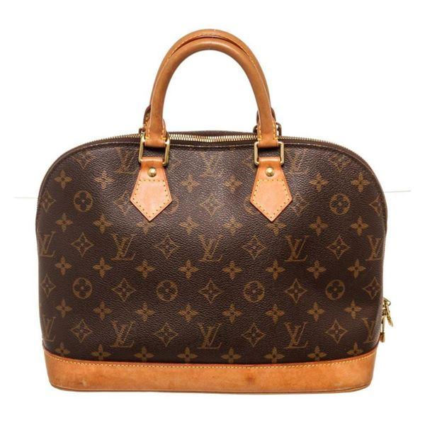 Louis Vuitton Brown Alma PM Satchel