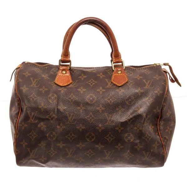 Louis Vuitton Brown Speedy 30cm Satchel Bag