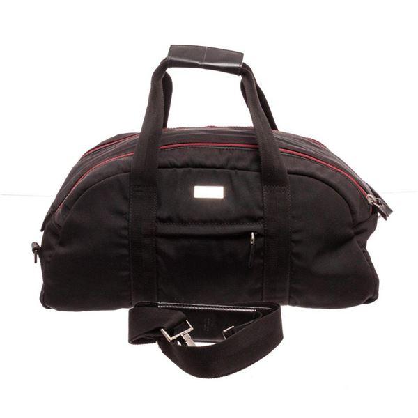 Gucci Black Canvas Sports Bag