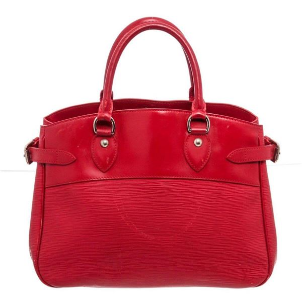 Louis Vuitton Red Epi Leather Passy MM Totes Bag
