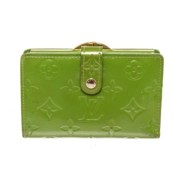 Louis Vuitton Green Vernis Leather French Wallet