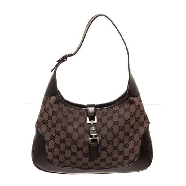 Gucci Brown Canvas Jackie Shoulder Bag