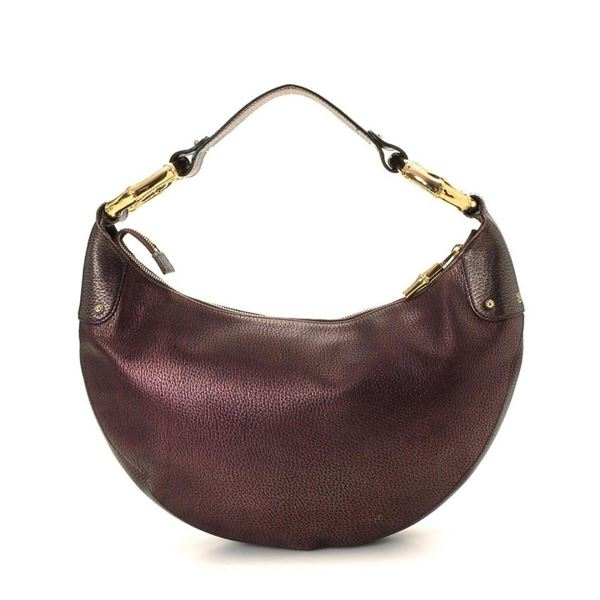 Gucci Purple GG canvas Bamboo Ring Hobo Bag