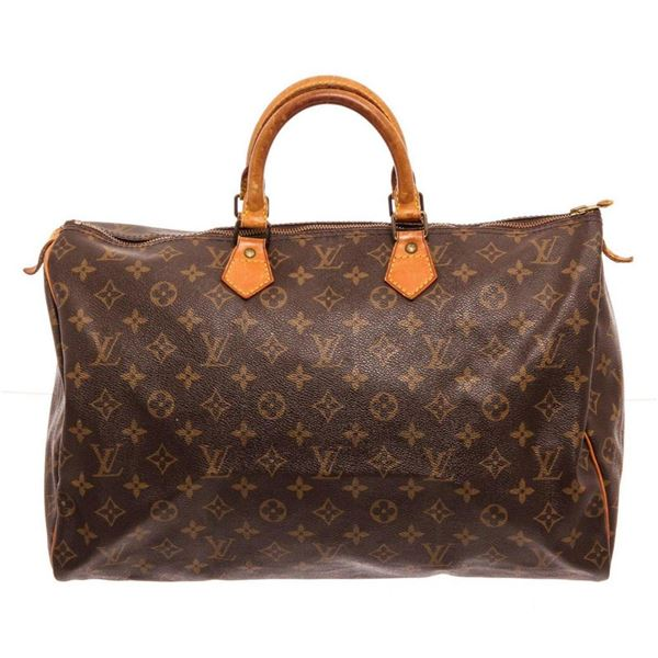 Louis Vuitton Brown Monogram Speedy 40cm Satchel Bag