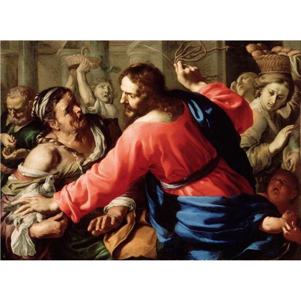 Bernardino Mei - Christ Cleansing the Temple