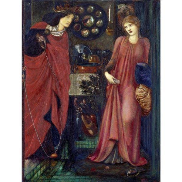 Edward Burne-Jones - Fair Rosamund and Queen Eleanor