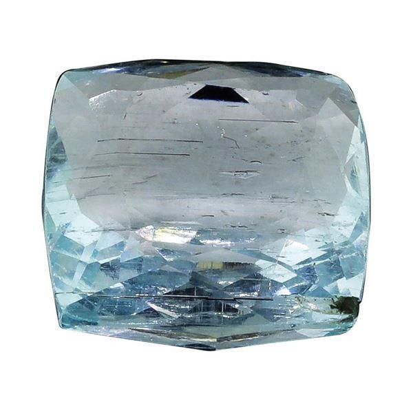 7.68 ct.Natural Cushion Cut Aquamarine