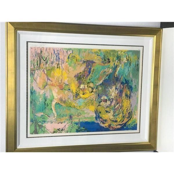 Lion Couple by LeRoy Neiman (1921-2012)