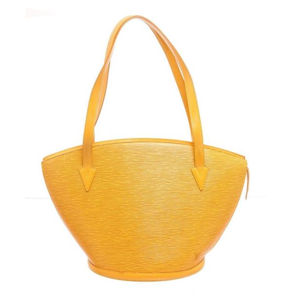 Louis Vuitton Yellow Infini Leather St. Jacques Shopping Tote Bag