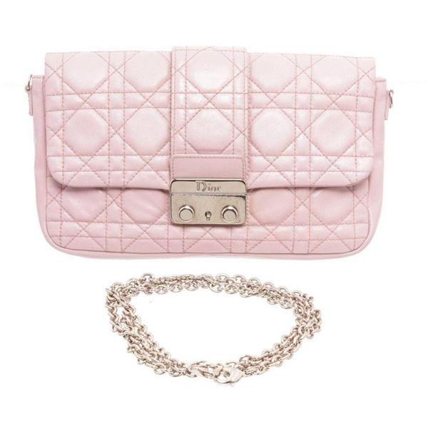 Christian Dior Purple Pink Connage Leather Miss Dior Flap Shoulder Bag