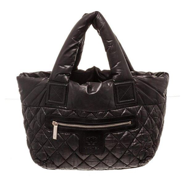 Chanel Black Nylon Cocoon Tote Bag
