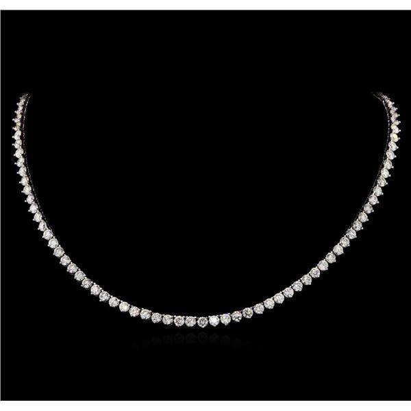 14KT White Gold 19.68 ctw Diamond Necklace