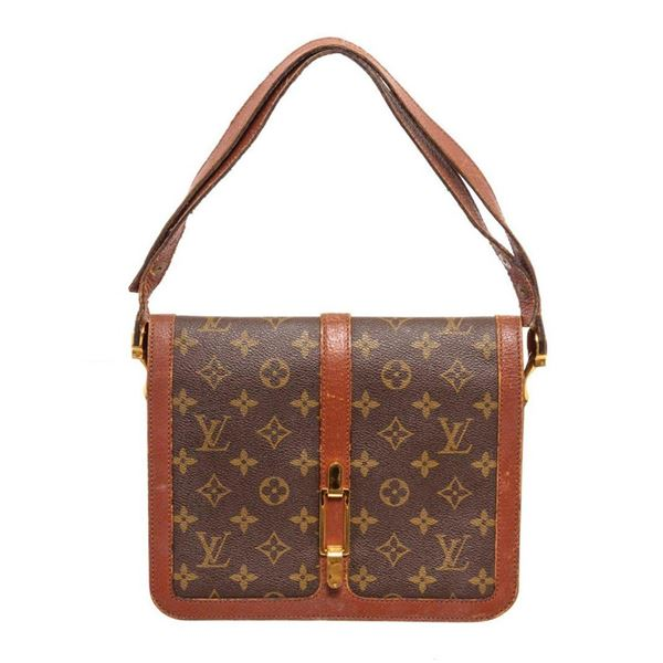 Louis Vuitton Brown Monogram Vintage Flap Crossbody Bag