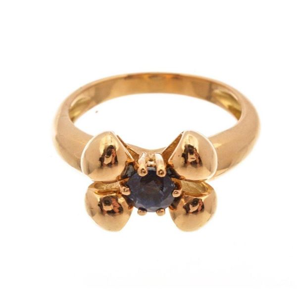 Chaumet Gold Sapphire Ring