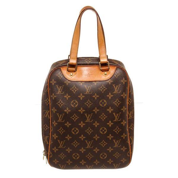 Louis Vuitton Brown Monogram Excursion Travel Bag