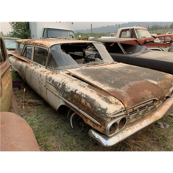 1959 Chevy - 2dr Wagon, complete, original paint, as is