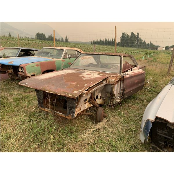 1966 Dodge Coronet 500 shell - 2dr HT, buckets/console car, have front clip, trim/mouldings are ther