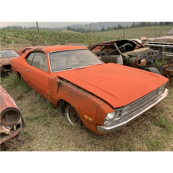 1972 Dodge Demon - has buckets, very rusty, column shift, for parts or restore
