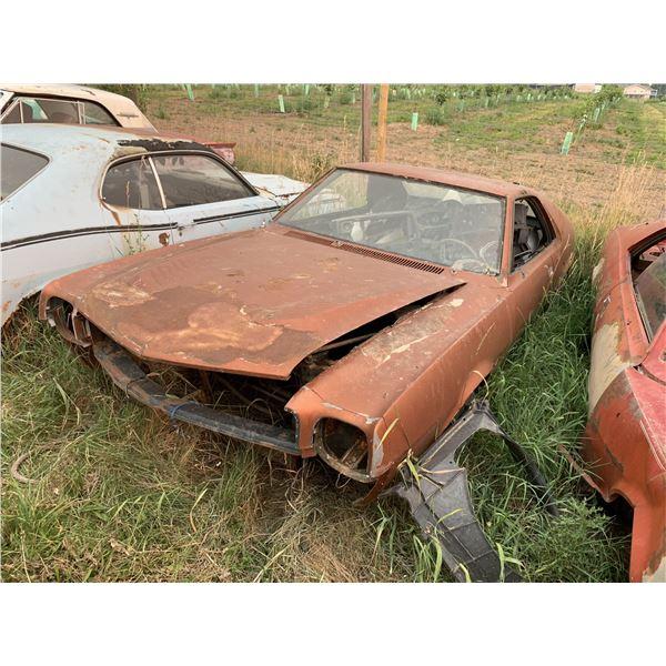 1968 AMC AMX - shell, rusty, no driveline, has trim/emblems