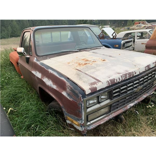 1973 Chevy - shortbox, stepside, has newer front clip