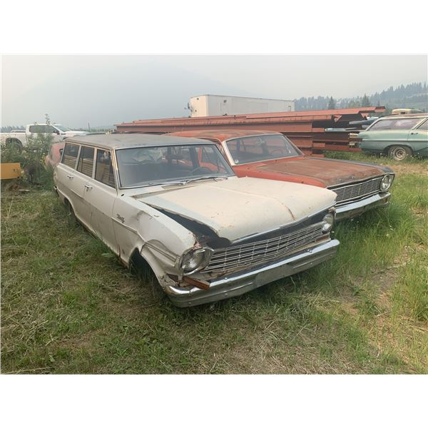 1964 Chevy Nova Wagon - complete, good project, usual rust
