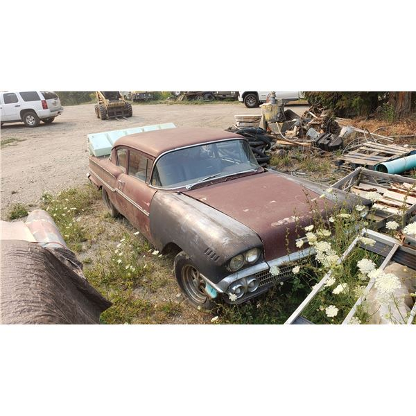 1958 Chevy Delray - 2dr post, rough but restorable